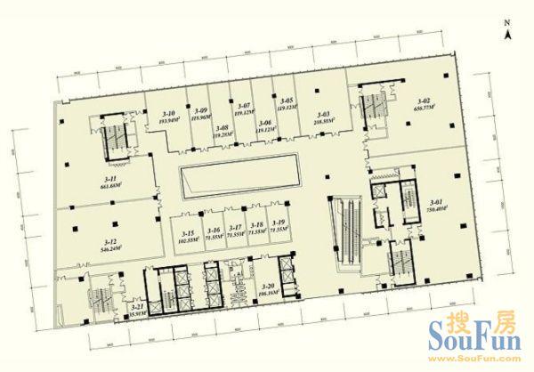 80平米店面结构图